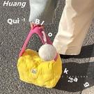媽咪包 韓國ins媽咪包方塊蛋餅包小眾設計羽絨包外出手提包可愛單肩包包