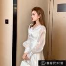 法式小眾洋裝春夏季新款2021氣質超仙女高級感收腰顯瘦網紗【全館免運】