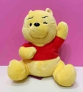 【震撼精品百貨】Winnie the Pooh 小熊維尼~迪士尼絨毛娃娃-舉手#36924