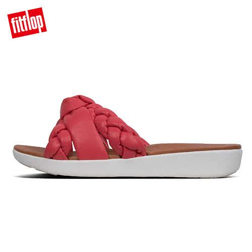 限定優惠價!【FitFlop】BRAID METALLIC LEATHER TOE-THONGS編織扭結設計夾腳涼鞋