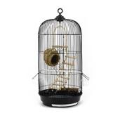 牡丹鸚鵡大號圓形金屬外掛鳥籠