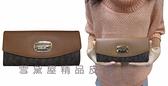 ~雪黛屋~MK 長夾國際正版女用長型皮夾二折暗釦蓋式主袋進口防水防刮皮革材質35H5GJSE7T