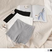 《BA4828-》高含棉純色豎壓紋腰鬆緊安全褲 OB嚴選