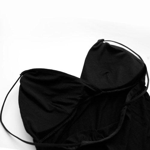 MIUSTAR 彈力細肩帶深V胸墊式棉質背心(共2色)【NE1677GW】預購