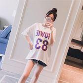 85折孕婦裝字母印花休閒寬鬆百搭短袖T恤上衣99購物節