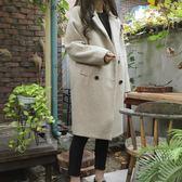 韓版女裝毛呢外套修身顯瘦大碼中長款呢子大衣 露露日記
