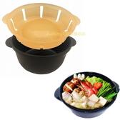 asdfkitty可愛家☆EBISU微波專用-簡單的一人鍋-微波調理鍋-日本製