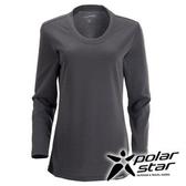 PolarStar 女 圓領排汗 保暖衣 | 發熱衣 『灰』P15216