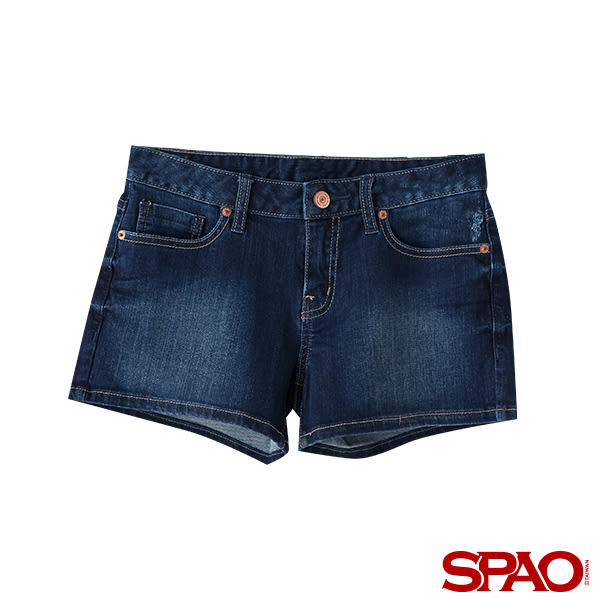 SPAO女款休閒刷色牛仔短褲