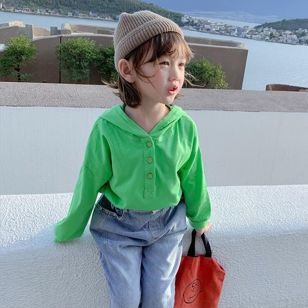 女童T恤秋裝新款韓版洋氣兒童秋季寶寶長袖體恤小女孩純棉上衣潮  【夏日新品】