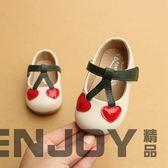 小櫻桃女寶寶公主鞋1-3歲嬰幼兒軟底學步鞋小童鞋寶寶單鞋小皮鞋  enjoy精品