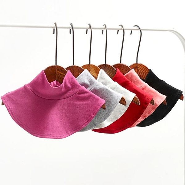 假領子 半高領假領子秋冬季棉打底衫領中高毛衣領男女士可用套頭圍脖 韓國時尚週 免運