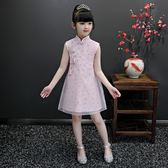 女童旗袍夏秋季中國風兒童洋氣寶寶小孩公主裙古箏演出服