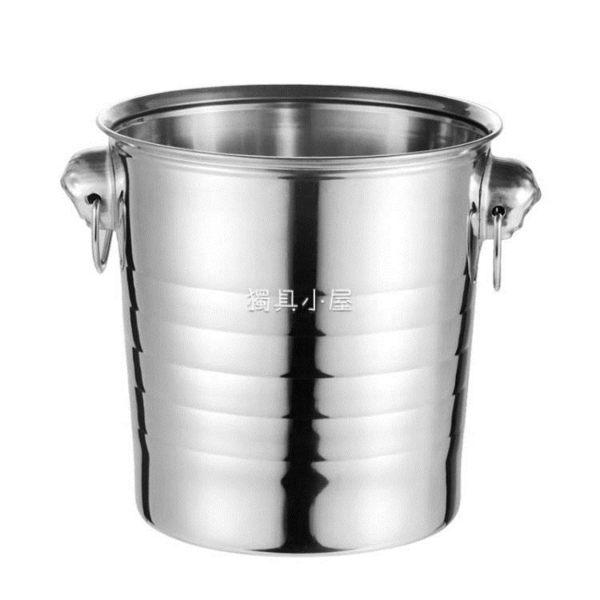 奶茶桶/冰桶 不銹鋼加厚KTV酒吧歐式香檳桶冰塊粒桶大號虎頭啤酒冰桶紅酒冰桶【快速出貨】