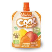 法國Vitabio 有機優鮮果-蘋果+蜜桃+杏桃90g