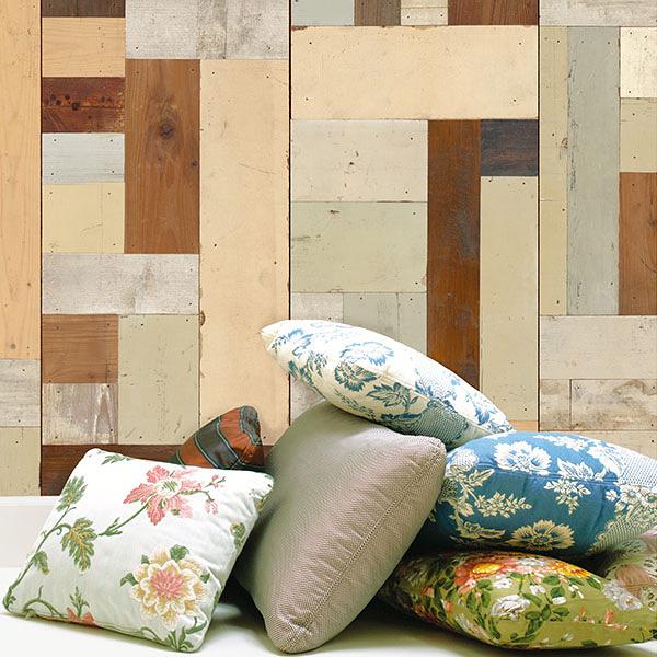 仿真復古彩色木紋 工業風 客廳 臥室壁紙【荷蘭進口牆紙】Scrapwood Wallpaper by Piet Hein Eek  PHE-06