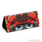 眼鏡盒三角折疊式眼鏡盒文具創意墨鏡盒子男簡約便攜式眼鏡收納盒女 大宅女韓國館