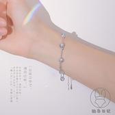 925純銀雙層月光石手鏈女日韓月光森林設計手飾【貼身日記】