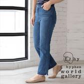 ❖ Hot item ❖ 下襬開衩不收邊設計直筒牛仔褲 - E hyphen world gallery