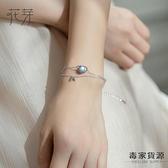 純銀手鏈女韓版設計簡約閨蜜手環手鏈【毒家貨源】
