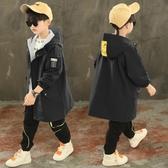 兒童外套 男童風衣外套中長款加絨加厚秋冬裝洋氣秋季中大兒童秋款 快速出貨