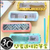 開窗 透明 鉛筆盒 開學 文具 造型 可愛 收納袋 甘仔店3C配件