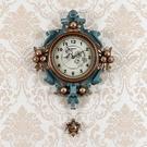歐式客廳掛鐘現代靜音時尚石英鐘個性家用創業鐘表復古裝飾墻壁鐘 小山好物