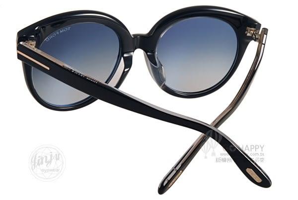 TOM FORD 太陽眼鏡 TOM429F 03W (黑) 經典T字典雅貓眼款 # 金橘眼鏡