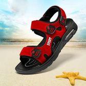 【全館】現折200夏季新款男童涼鞋中大童正韓學生兒童涼鞋男軟底小男孩沙灘鞋