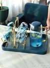 北歐涼水壺玻璃耐高溫水壺家用涼水玻璃水壺涼水杯套裝家用冷水壺CY『新佰數位屋』