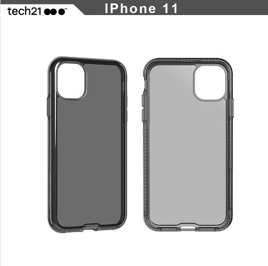 1折特賣 英國TECH 21抗衝擊 iPhone 11 6.1吋 PURE TINT 防撞硬式透黑保護殼 手機殼