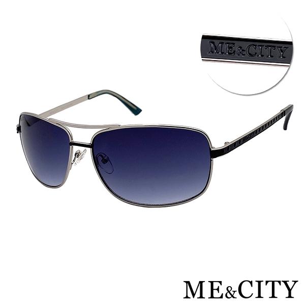 ME&CITY 傲氣飛行官金屬方框太陽眼鏡 抗UV400 (ME 1104 B01)