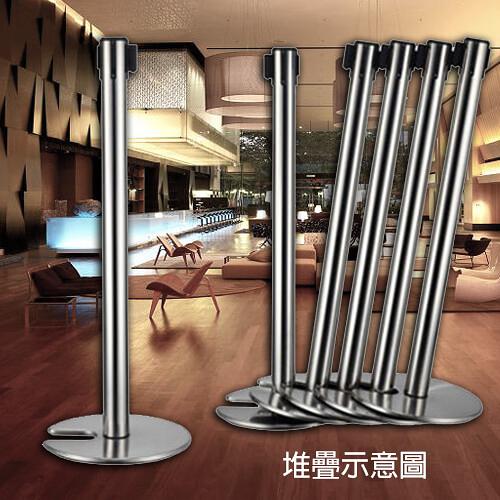【企隆 圍欄 飯店用品】伸縮欄柱(安全縮頭開口盤)/E85SC 開店/欄柱/紅龍柱