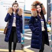 黑姑娘反季棉服女中長款韓版加厚大毛領冬季寬鬆外套羽絨棉襖女 ☸mousika
