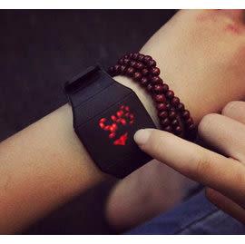 03 韓版 品質 LED觸控 原宿超薄觸摸exo時尚錶 學生錶 情侶錶 運動錶 潮男電子手錶