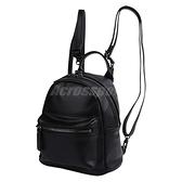 Converse 後背包 Mini PU Backpack 女款 小包包 隨身包 雙肩背 皮質 黑 【ACS】 10007563A02