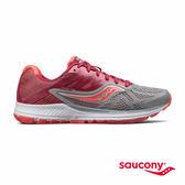 SAUCONY RIDE 10 專業訓練鞋款-灰x莓果紅