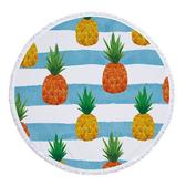 沙灘巾 彩色 水果 印花 流蘇 野餐巾 海灘巾 圓形沙灘巾 150*150【YC025】 icoca  04/03