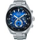 廣告款 ALBA 雅柏 異想空間三眼計時手錶-藍/45mm VK63-X027B(AU2185X1)