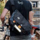 KGH 發光單車騎行包 發光迷彩斜背包 大容量單肩包 運動斜背包 03RR9426