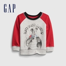 Gap嬰兒 Gap x Disney 迪士尼印花圓領休閒上衣 650225-灰色