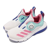 adidas 童鞋 ActiveFlex Boa K 白 粉紅 旋鈕設計 無鞋帶 中童鞋 愛迪達 【ACS】 FZ5059