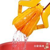 快速出貨-拖把對折式免手洗海綿拖把家用廚房木地板送膠棉吸水拖把頭