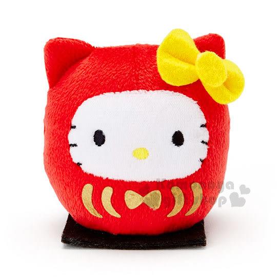〔小禮堂〕Hello Kitty 絨毛玩偶娃娃《S.紅.黑坐墊.不倒翁》 4901610-10311