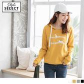 《KG0161》台灣製造.音符旋律貓咪燙印造型連帽內刷毛上衣 OrangeBear
