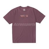 Nike 短袖 SB TEE 男款 酒紅色 彩色字體 刺繡 小標 滑板T恤 短T【ACS】 DJ1215-646