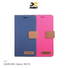 XMART SAMSUNG Galaxy M21S 斜紋休閒皮套 掀蓋 可立 插卡 撞色 磁扣