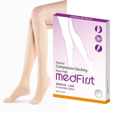 Medfirst 專業醫療彈性襪 220D小腿襪 (S~XL號 / 膚色)【杏一】廣促