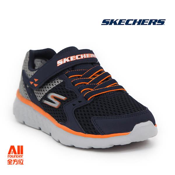 【Skechers思克威爾】】童款休閒鞋 GO RUN 400-黑橘色 (97680LNVGY)全方位運動戶外館