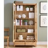 書櫃書架收納優木傢俱純實木書櫃1米進口白橡木1米書櫥實木北歐簡約原木SP全館免運